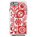 Caja roja y blanca del iPhone 6 del edredón Funda De iPhone 6 Tough