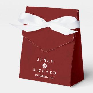 Caja roja y blanca marrón del favor del boda cajas para regalos de boda