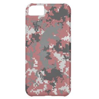 Caja roja y gris del iPhone de Digitaces Camo Funda Para iPhone 5C