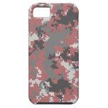 Caja roja y gris del iPhone de Digitaces Camo iPhone 5 Protectores