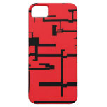Caja roja y negra de Digitaces IPhone iPhone 5 Case-Mate Fundas