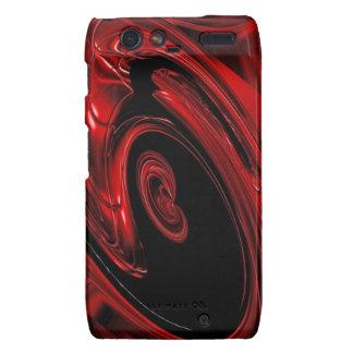 Caja roja y negra de Droid RAZR del arte pop de la Droid RAZR Funda