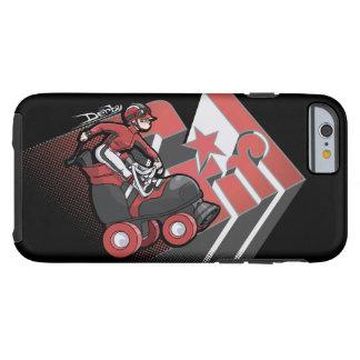 Caja roja y negra del chica de Derby del teléfono Funda Resistente iPhone 6