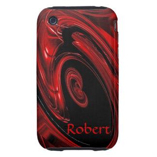 Caja roja y negra del iPhone 3 del arte pop de la  Tough iPhone 3 Fundas