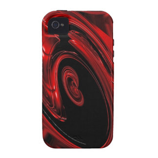 Caja roja y negra del iPhone 4 del arte pop de la  Vibe iPhone 4 Carcasa
