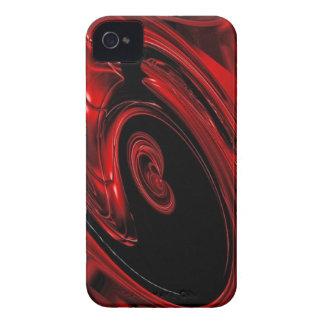 Caja roja y negra del iPhone 4 del arte pop de la  iPhone 4 Case-Mate Coberturas