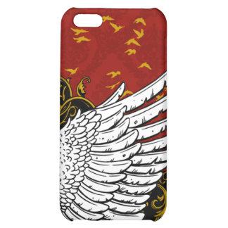 Caja roja y negra del iPhone 4 del damasco del ala