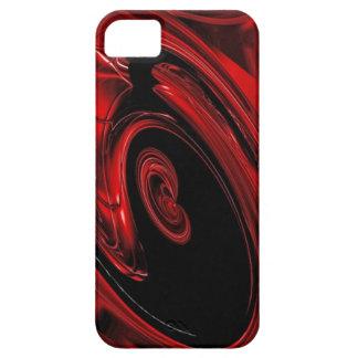 Caja roja y negra del iPhone 5 del arte pop de la  iPhone 5 Case-Mate Coberturas
