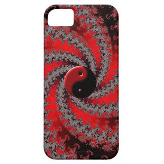 Caja roja y negra del iPhone de Yin-Yang del iPhone 5 Case-Mate Coberturas
