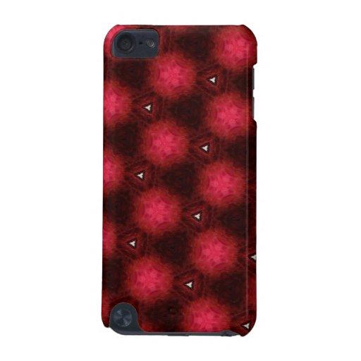 Caja roja y negra enrrollada del tacto de iPod