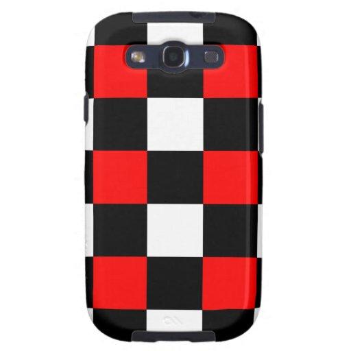 Caja roja y negra fresca de la galaxia de Samsung  Galaxy S3 Fundas