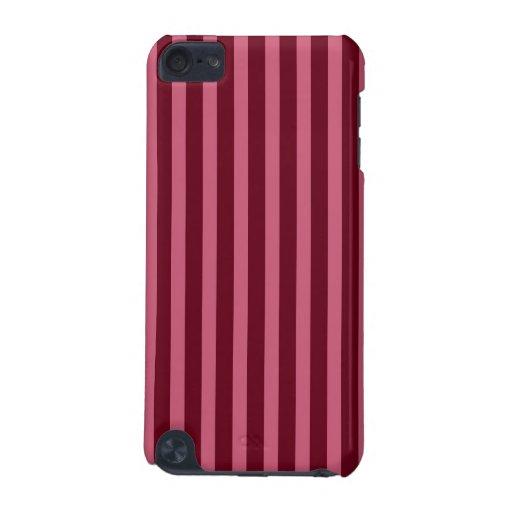 Caja roja y rosada de la frambuesa de las rayas de funda para iPod touch 5G