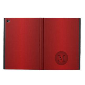 Caja rojo oscuro para hombre del aire 2 del iPad