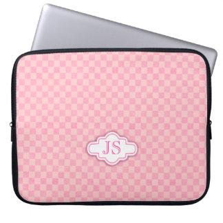 Caja rosa clara del ordenador portátil del fundas portátiles