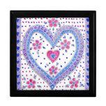 Caja, rosa y azul de regalo romántica del Corazón- Caja De Regalo