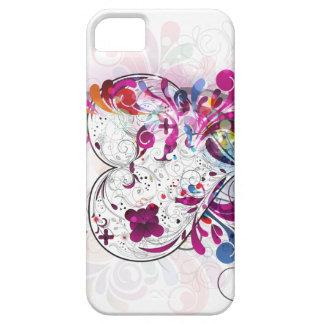 Caja rosada abstracta femenina de la casamata del funda para iPhone SE/5/5s