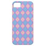 Caja rosada azul del iPhone 5 de los diamantes iPhone 5 Case-Mate Cárcasa