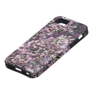 Caja rosada blanca del iPhone 5/5s de las flores d iPhone 5 Protector