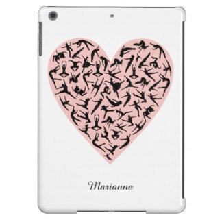 Caja rosada bonita del aire del iPad del corazón d Funda Para iPad Air