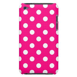Caja rosada brillante de IPod del lunar iPod Case-Mate Coberturas
