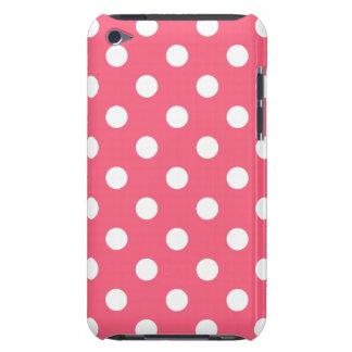 Caja rosada de IPod del lunar del borde iPod Touch Coberturas