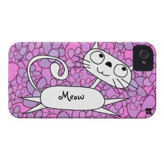 Caja rosada de la casamata del iPhone 4 de la flor Case-Mate iPhone 4 Protectores