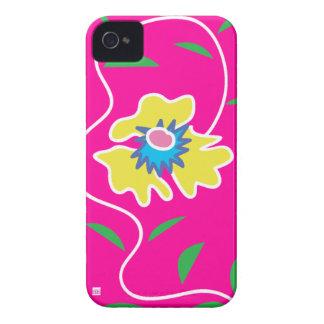 Caja rosada de la casamata del iPhone 4 de la flor iPhone 4 Case-Mate Cárcasa