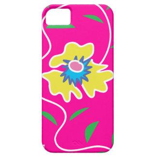 Caja rosada de la casamata del iPhone 5 de la flor iPhone 5 Fundas