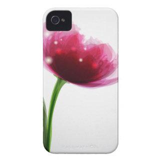Caja rosada de la casamata del Peony iPhone4