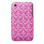Caja rosada de la curva de Blackberry del diseño d iPhone 3 Case-Mate Carcasas
