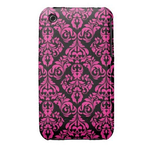 Caja rosada de la curva de Blackberry del diseño d Case-Mate iPhone 3 Coberturas