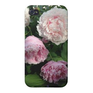 Caja rosada de la flor Iphone4 del Peony iPhone 4 Fundas