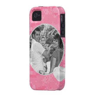 Caja rosada de la foto iPhone4 de Camo y de las iPhone 4/4S Fundas