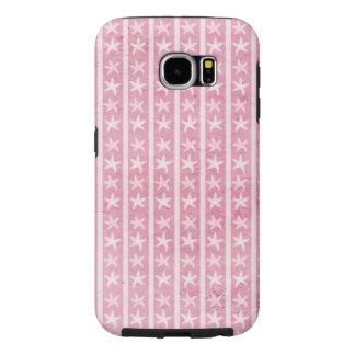 Caja rosada de la galaxia 6 de Samsung de los Fundas Samsung Galaxy S6