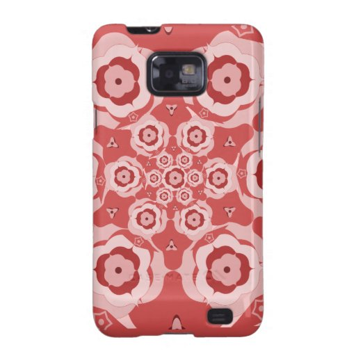 Caja rosada de la galaxia de Samsung de la Carcasa Galaxy S2
