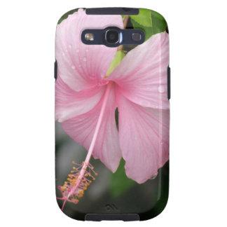 Caja rosada de la galaxia de Samsung del hibisco Samsung Galaxy S3 Carcasa