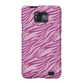 Caja rosada de la galaxia de Samsung del modelo de Samsung Galaxy S2 Carcasa