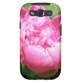 Caja rosada de la galaxia de Samsung del Peony Samsung Galaxy S3 Cárcasa