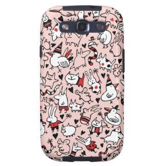 Caja rosada de la galaxia S3 de Samsung de los jue Samsung Galaxy S3 Protectores