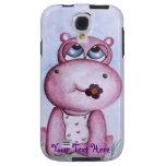 Caja rosada de la galaxia S4 de Samsung del hipopó