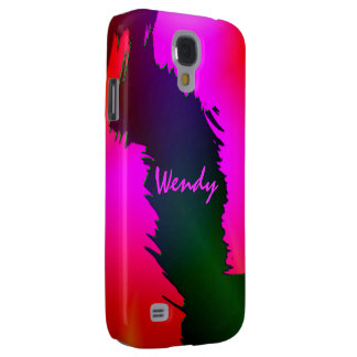 Caja rosada de la galaxia S4 de Samsung para Wendy Funda Para Samsung Galaxy S4