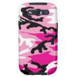 Caja rosada de la galaxia S de Camo Samsung Galaxy S3 Protector