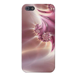 Caja rosada de la mota de la joyería del fractal iPhone 5 carcasas