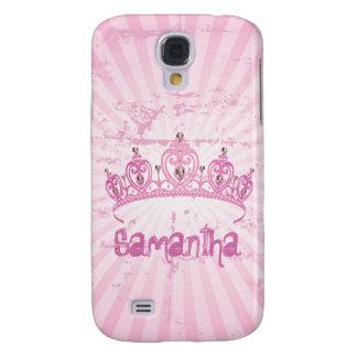 Caja rosada de la mota del iPhone 3 de princesa Cr