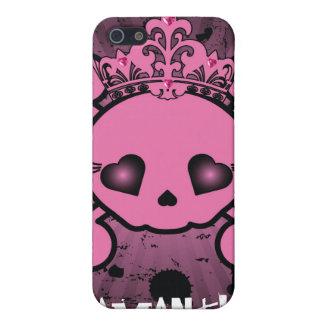 Caja rosada de la mota del iPhone 4 4s de la bande iPhone 5 Protectores