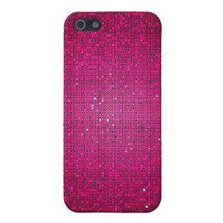 Caja rosada de la mota del iPhone 4 4s del disco d iPhone 5 Coberturas