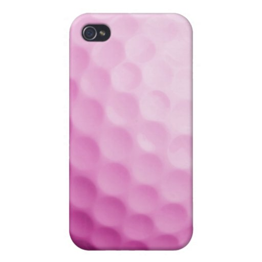 Caja rosada de la pelota de golf - espacio en blan iPhone 4 protector