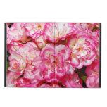 Caja rosada del aire del ipad de la impresión flor