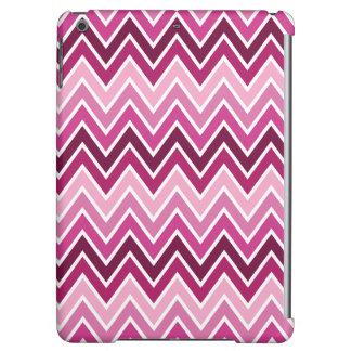 Caja rosada del aire del iPad de la raya de Chevro