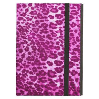 Caja rosada del aire del iPad del estampado leopar